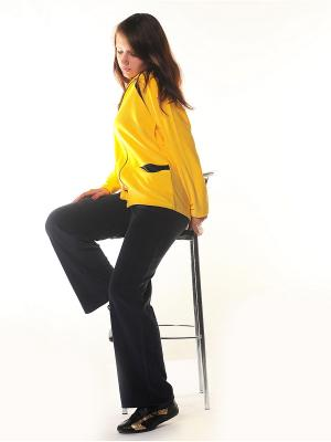Велюровый костюм Тефия. Цвет: желтый, темно-синий