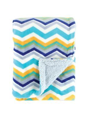 Плед Графическая радуга Hudson Baby. Цвет: белый, бирюзовый, голубой