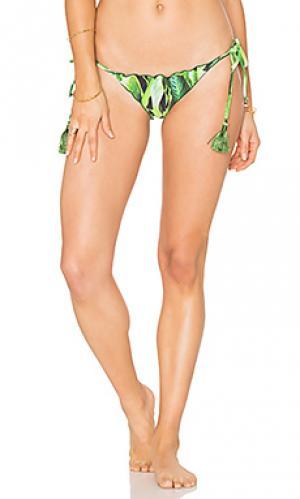 Низ бикини с завязками по бокам AGUADECOCO. Цвет: зеленый
