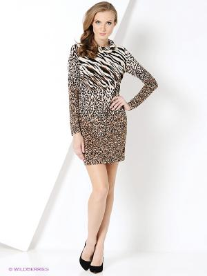 Платье Magnolica. Цвет: коричневый