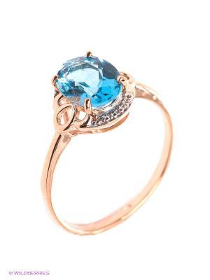 Кольцо SOKOLOV. Цвет: золотистый, голубой