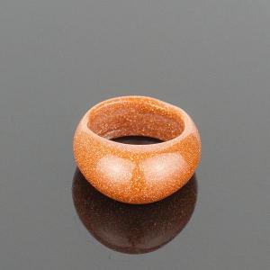 Перстень Классика авантюрин, арт. кп-4614 Бусики-Колечки. Цвет: коричневый
