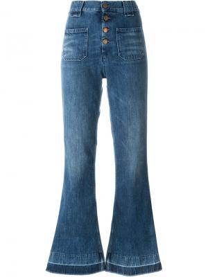 Расклешенные джинсы Aries. Цвет: синий