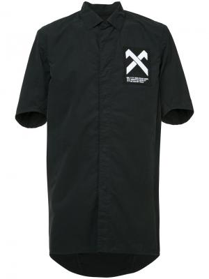Cross patch shirt 11 By Boris Bidjan Saberi. Цвет: чёрный