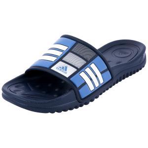 Сланцы Adidas. Цвет: темно-синий, белый