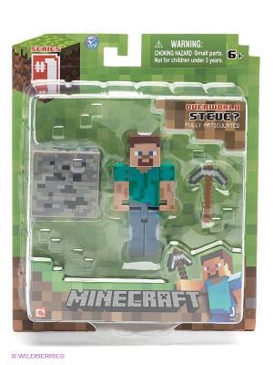 Фигурка с аксессуарами. Майнкрафт Minecraft. Цвет: зеленый