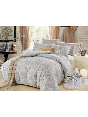 Комплект постельного белья, Джастин, 1.5 спальный KAZANOV.A.. Цвет: серый, бежевый