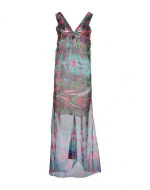 Длинное платье RISSKIO. Цвет: зеленый