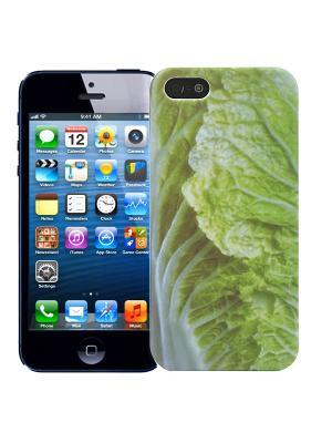 Чехол для iPhone 5/5s Пекинская капуста Kawaii Factory. Цвет: светло-зеленый, белый