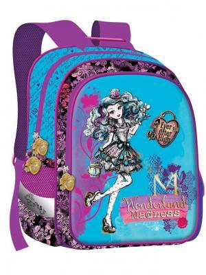 Ранец Super bag Mattel Ever After High, ортопедическая спинка, EVA,голубой. Цвет: фиолетовый
