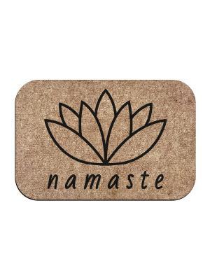 Коврик придверный Namaste MoiKovrik. Цвет: темно-бежевый