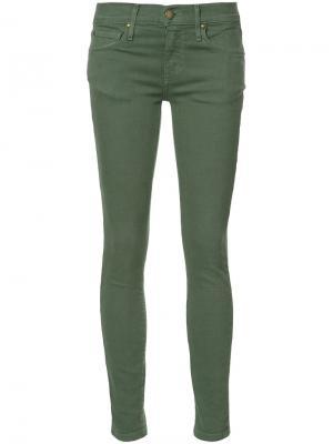 Укороченные джинсы скинни The Great. Цвет: зелёный