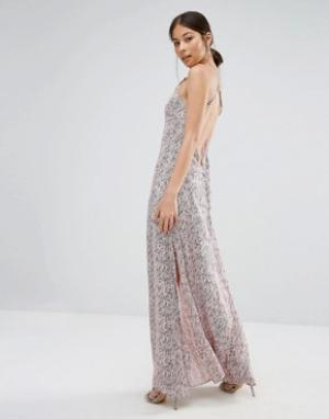 Goldie Платье макси с принтом Elegance. Цвет: мульти