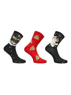 Носки, 3 пары Master Socks. Цвет: черный, бордовый