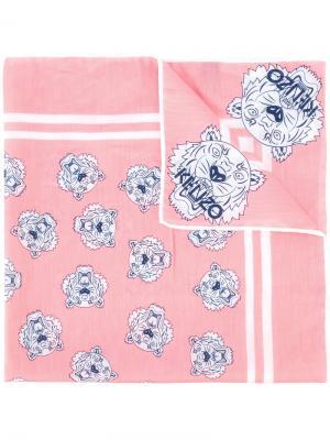 Платок с принтом Kenzo. Цвет: розовый и фиолетовый