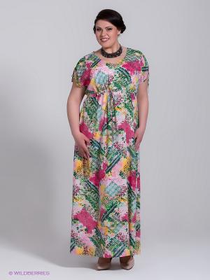 Платье Silver-String. Цвет: зеленый, розовый
