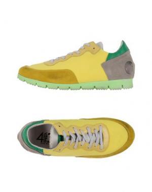 Низкие кеды и кроссовки QUATTROBARRADODICI. Цвет: желтый