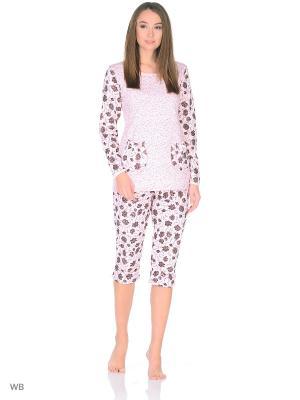 Пижама MELANA. Цвет: коричневый, персиковый