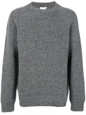 Трикотажный свитер Sunspel. Цвет: серый