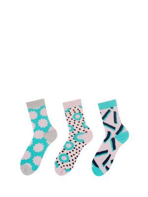 Носки Sammy Icon. Цвет: серый, голубой, розовый