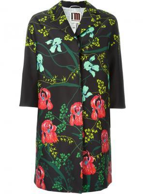 Пальто с цветочным принтом  IM Isola Marras I'M. Цвет: чёрный
