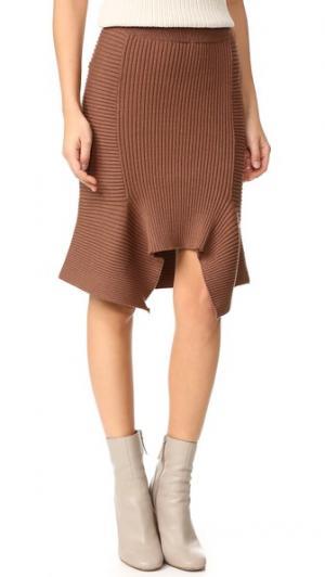 Расклешенная юбка Ribly Designers Remix. Цвет: пыльный коричневый