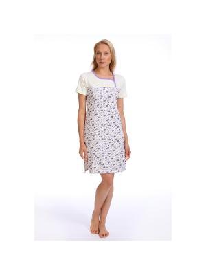 Ночная сорочка SOFT SECRET. Цвет: молочный