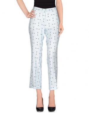 Повседневные брюки MAESTA. Цвет: небесно-голубой