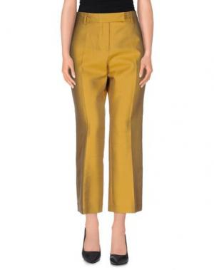 Повседневные брюки TRUE ROYAL. Цвет: охра