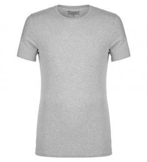 Серая футболка с круглым вырезом Bread&Boxers. Цвет: серый