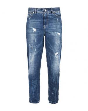 Джинсовые брюки GEORGE J. LOVE. Цвет: синий