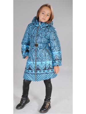 Пальто Милашка Сьюзи. Цвет: бирюзовый