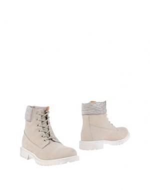 Полусапоги и высокие ботинки KEYS. Цвет: светло-серый