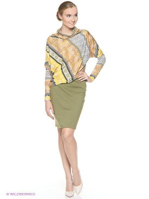 Платье ADZHEDO. Цвет: оливковый, бежевый, желтый