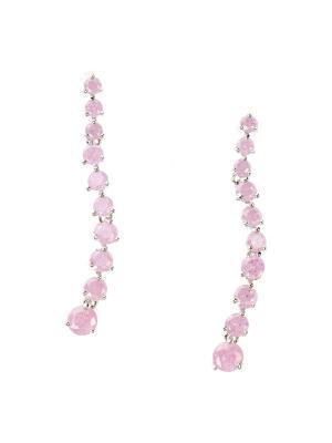 Серьги Bijoux Land. Цвет: серебристый, розовый
