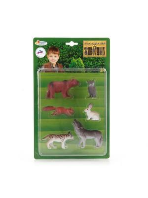 Набор из 6-и животных средней полосы Играем Вместе. Цвет: белый, коричневый, серый