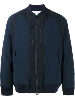 Куртка-бомбер White Mountaineering. Цвет: синий