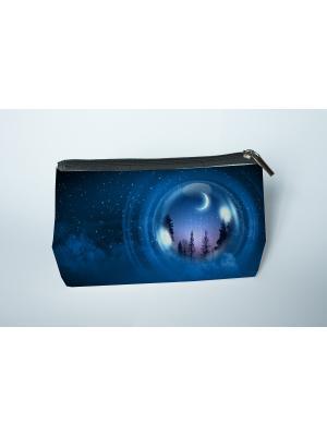 Готовая продукция. Косметичка Лунный коридор Матренин Посад. Цвет: синий, серый
