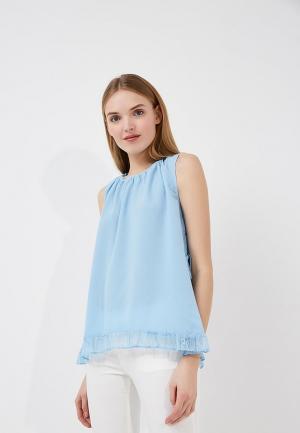 Блуза French Connection. Цвет: голубой