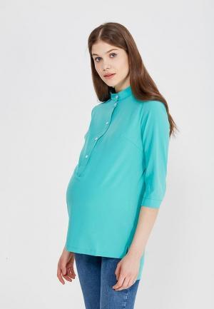 Блуза Shelter. Цвет: бирюзовый