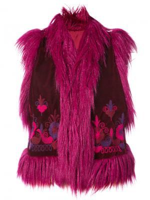 Windsor velvet vest Anna Sui. Цвет: красный