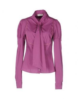 Pубашка SCRUPOLI. Цвет: розовато-лиловый