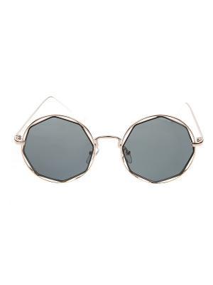 Солнцезащитные очки IQ Format. Цвет: серый, серебристый
