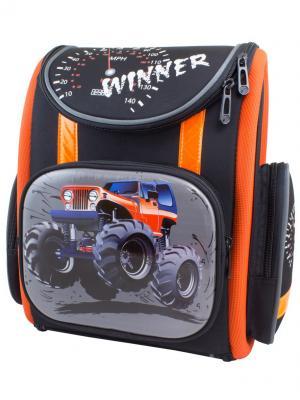 Ранец Winner 1002. Цвет: синий, оранжевый