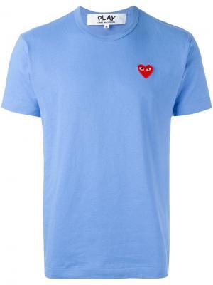 Heart patch T-shirt Comme Des Garçons Play. Цвет: синий