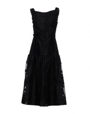 Платье длиной 3/4 ERDEM. Цвет: черный