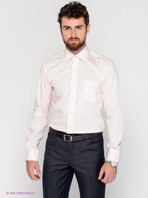 Рубашка MONDIGO. Цвет: бледно-розовый, кремовый