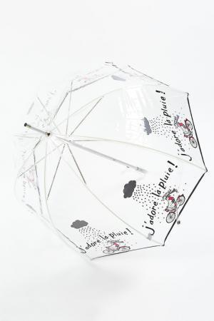Зонт трость Isotoner. Цвет: прозрачный, любовь