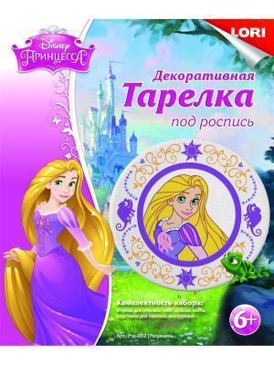 Тарелка из гипса Disney Рапунцель LORI. Цвет: желтый, розовый, фиолетовый