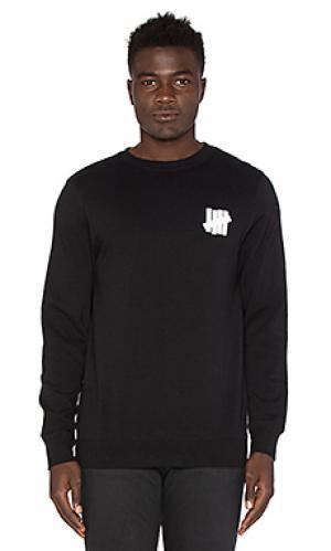 Пуловер chest strike Undefeated. Цвет: черный